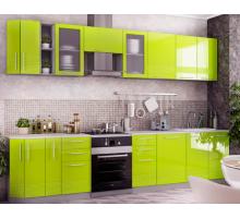 Кухня капля кантри, цвет - зеленый, белый
