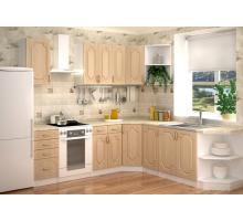 Кухня Настя кантри, цвет - бежевый, коричневый