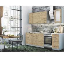 Кухня Капри бежевая, серая, стиль - лофт