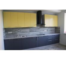 Кухня Каламбур желтая, стиль - модерн
