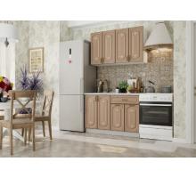 Кухня Бергамо бежевая, стиль - классический