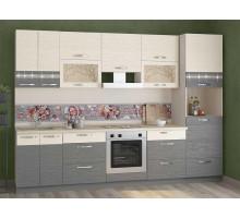 Кухонный гарнитур Графит 35, цвет - серый, стиль - классический