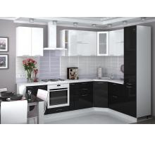 Кухня Валерия Металлик, цвет - серый, черный, стиль - классический
