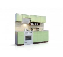 Кухонный гарнитур Арина, цвет - зеленый, стиль - современный