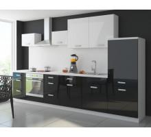 Кухонный гарнитур Лайф-11, цвет - металлик, стиль - современный