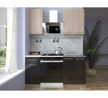 Кухонный гарнитур Ника, цвет - металлик, стиль - современный