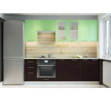 Кухонный гарнитур ОДРИ-2, цвет - зеленый металлик, стиль - классический