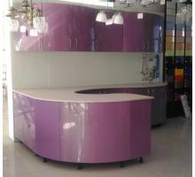 Кухня Хамелеон - 1, цвет - фиолетовый, серый, стиль - современный