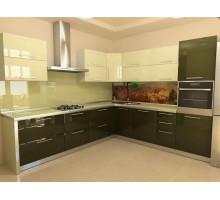 Кухня Охта, цвет - бежевый, коричневый, стиль - современный