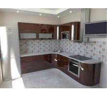 Кухня цвета Шоколад, стиль - модерн