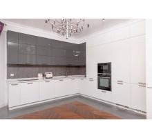 Кухня Grazia, цвет - серый, белый, стиль - современный