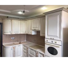 Кухня Крем, цвет - кремовый с золотой патиной, стиль - прованс