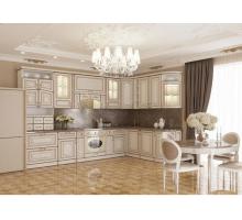 Кухня МДФ Прованс с золотой патиной, цвет - бежевый, стиль - прованс
