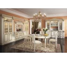 Кухня Этернити, цвет - белый с золотой патиной, стиль - классический