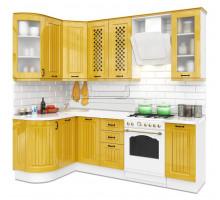 Кухня Неаполь, цвет - желтый, стиль - современный