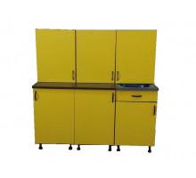 Кухонный гарнитур, цвет - венге/желтый, стиль - современный