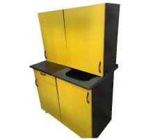 Кухонный гарнитур, цвет - желтый, стиль - современный