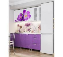 Кухоннный гарнитур Крокусы, цвет - фиолетовый, стиль - современный