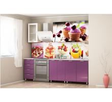Кухня Палермо Десерт, цвет - фиолетовый, стиль - современный