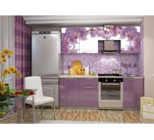 Кухонный гарнитур София Орхидея, цвет - фиолетовый, стиль - современный