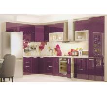 Кухонный гарнитур Фиолетовый, стиль - современный