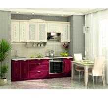 Кухонный гарнитур Виктория, цвет - красный, стиль - классический