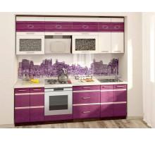 Кухонный гарнитур Палермо 11, цвет - фиолетовый, стиль - современный