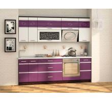 Кухонный гарнитур Палермо 19, цвет - фиолетовый, стиль - современный