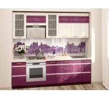 Кухонный гарнитур Палермо 13, цвет - фиолетовый, стиль - современный