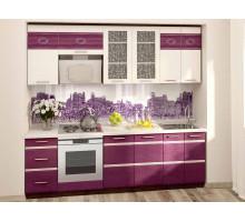 Кухонный гарнитур Палермо 12, цвет - фиолетовый, стиль - современный