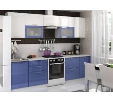 Кухонный гарнитур Олива, цвет - синий, белый, стиль - современный