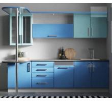 Кухня Выборг-40, цвет - синий, стиль - современный