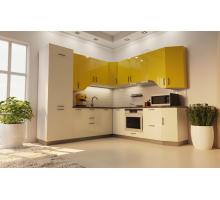 Кухня Аманда, цвет - желтый, стиль - современный