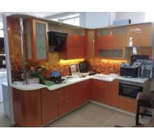 Кухня Хамелеон, цвет - оранжевый, стиль - современный