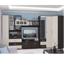 Стенка для гостиной Рошель-04, цвет - венге, стиль - современный