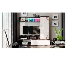 Стенка «Сиена», цвет - венге цаво/дуб белфорт с рисунком,  стиль - современный