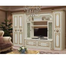 Джулия, гостиная [Джулия], цвет - Белое дерево + Патина золото, стиль - классический