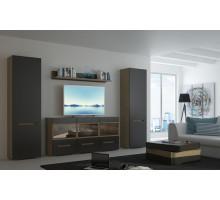 Гостиная Анри 4.2, цвет - Швейцарский вяз/Серый матовый,  стиль - современный