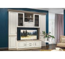 Стенка Соната, цвет - Andersen Pine White/Дуб сонома трюфель, стиль - классический