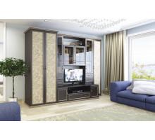 Гостиная Марианна, цвет -  Chesterfild oak/Granite rose, стиль - классический