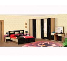 Спальный гарнитур Vivo-5, цвет - венге+клен, стиль - современный