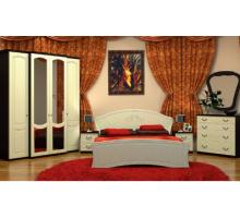 Спальный гарнитур Vivo-6, цвет - венге + шелк жемчуг, стиль - современный