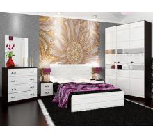 Спальный гарнитур Vivo-8, цвет - венге + белый, стиль - современный