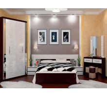 Спальный гарнитур Vivo-11, цвет - венге+белый, стиль - современный