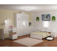 """Спальный гарнитур """"Стелла"""" , цвет - белый глянец, стиль - классический"""