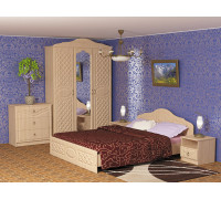 """Спальный гарнитур """"Венеция-1 Эко"""", цвет - клен жемчужный, стиль - классический"""