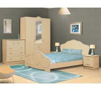 """Спальный гарнитур """"Спальня Валенсия"""", цвет - дуб беленый, стиль - классический"""