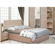 """Спальный гарнитур - """"Ева-8"""", цвет -дуб сантана светлый+холст серый, стиль - классический"""