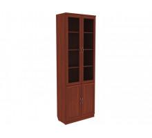 Шкаф-витрина Мерлен 206 Венге / Молочный дуб для офиса