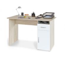 """Офисный стол """"Уилд"""", цвет - белый + дуб сонома, стиль - классический"""